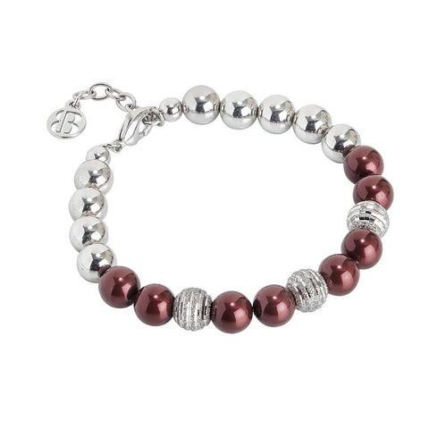Bracelet rodiatos with Swarovski beads burgundians
