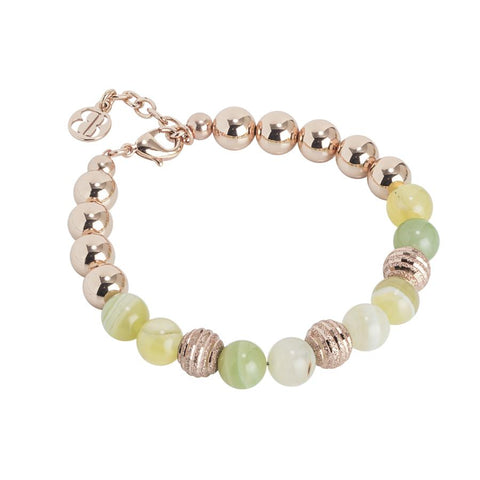 Bracelet rosato with agata light yellow