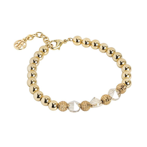Bracelet with Swarovski crystals Golden Shadow