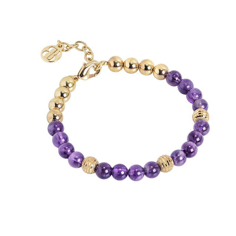 Bracelet with beads of amethyst