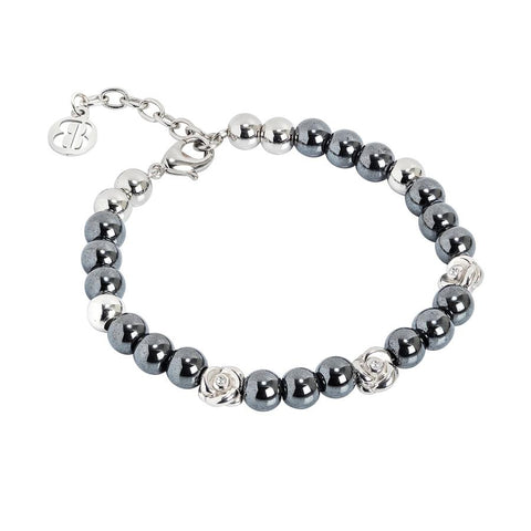 Bracelet with Swarovski and hematite