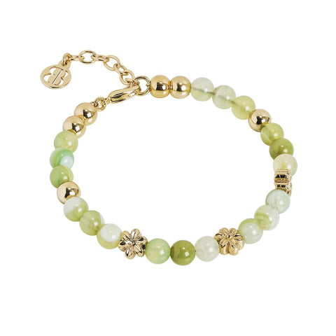 Bracelet with Swarovski and agata light yellow