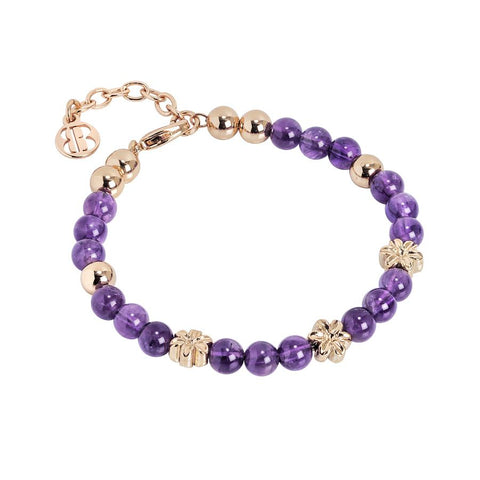 Bracelet with Swarovski and amethyst