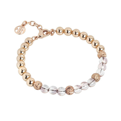 Bracelet with Swarovski beads antique pink