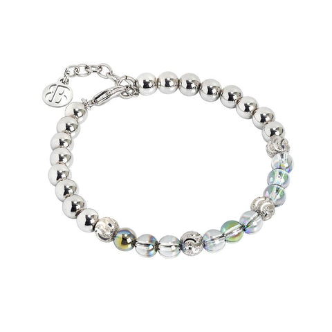 Bracelet with Swarovski beads iridescent green