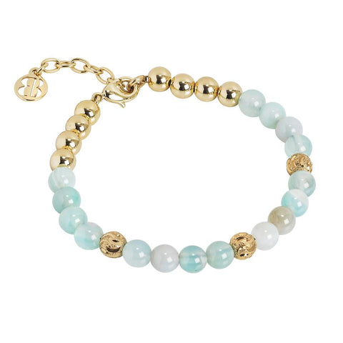 Bracelet with pearls of heavenly Agata
