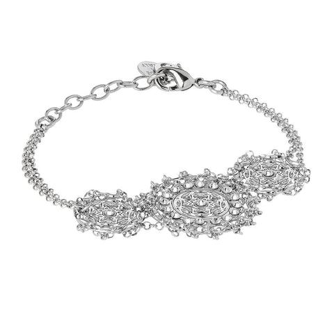 Related product : Bracelet with central decoration in bas-relief and Swarovski