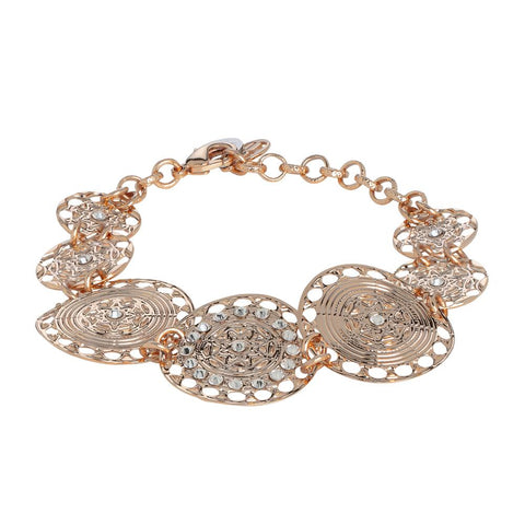 Related product : The semirigid Bracelet gold plated pink with decoration in relief and Swarovski