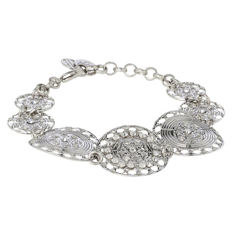 Related product : The semirigid Bracelet with decoration in relief and Swarovski