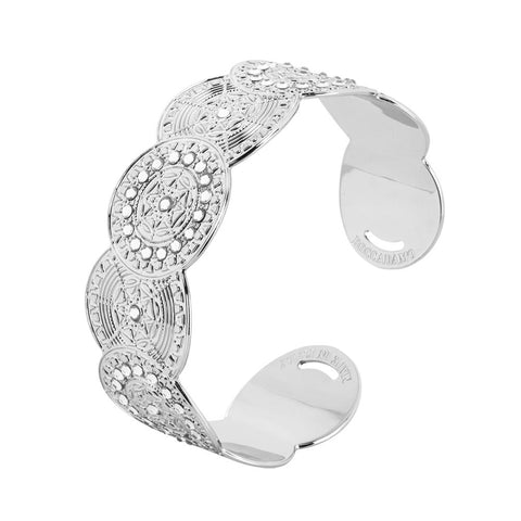 Bracelet band with decoration in relief and Swarovski