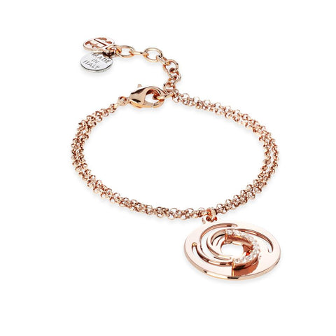 Related product : Plated Bracelet pink gold pendant with a vortex and zircons