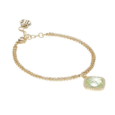 Related product : Bracelet with crystal chrysolite briolette and zircons