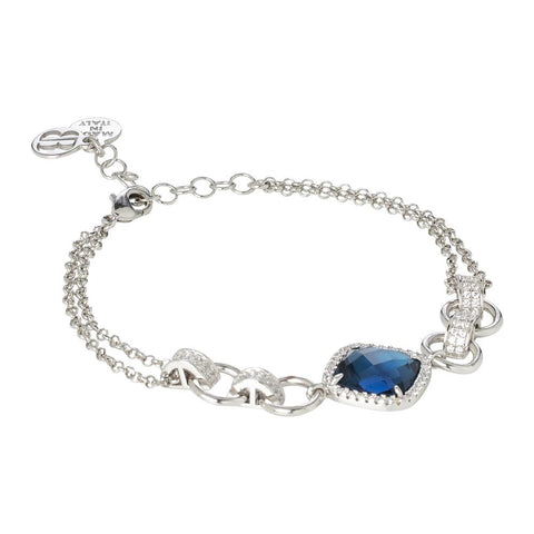 Related product : Bracelet double wire with crystal blue montana and zircons