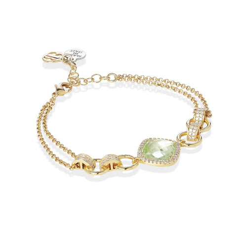 Related product : Bracelet double wire with crystal chrysolite and zircons