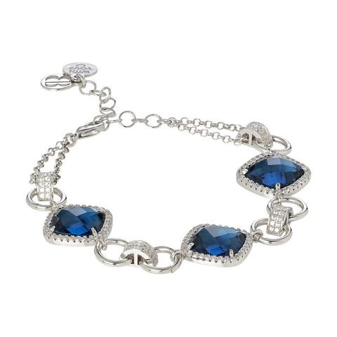 Related product : Modular bracelet with crystal blue montana and zircons