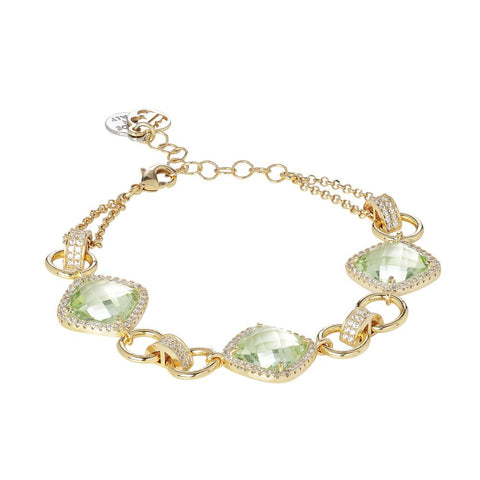 Related product : Modular Bracelet with crystals chrysolite and zircons
