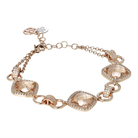 Related product : Modular Bracelet with crystals peach and zircons