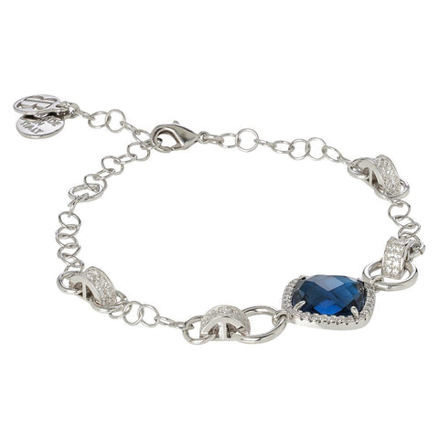 Related product : Bracelet with central briolette blue montana and zircons