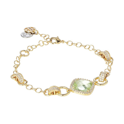 Related product : Bracelet with central chrysolite briolette and zircons