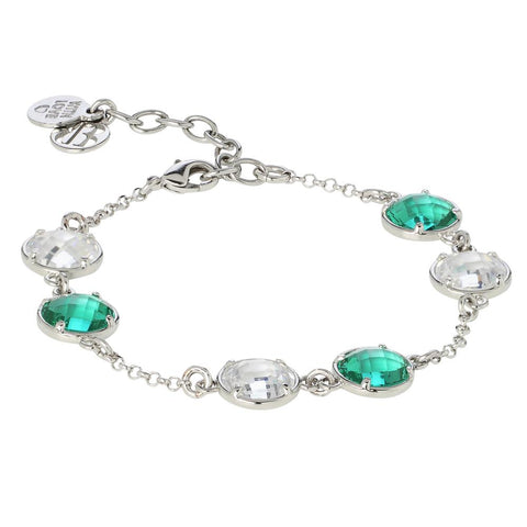 Bracelet with crystals and crystal water green