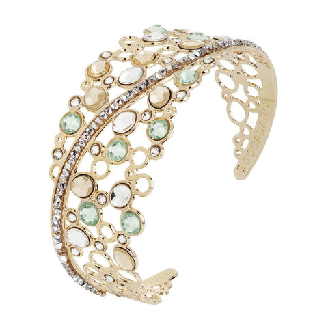 Related product : Rigid bracelet with decoration of Swarovski crystal, chrysolite and gold