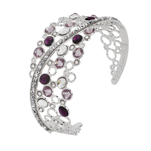 Related product : Rigid bracelet with decoration of Swarovski crystal and ametyst