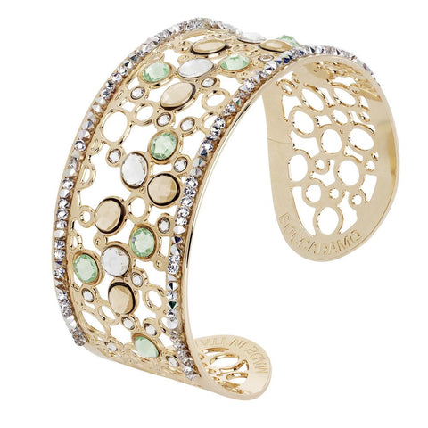 Related product : Bracelet band with decoration of Swarovski crystal, chrysolite and gold