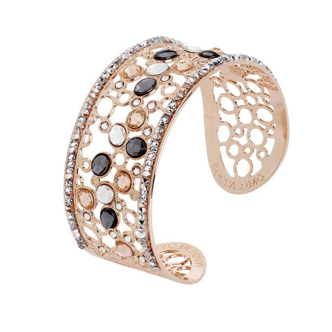 Related product : Bracelet band with decoration of Swarovski crystal, peach and silver night