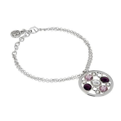 Related product : Bracelet double thread rodiatos with central in Swarovski