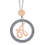 Necklace with letter A small pendant
