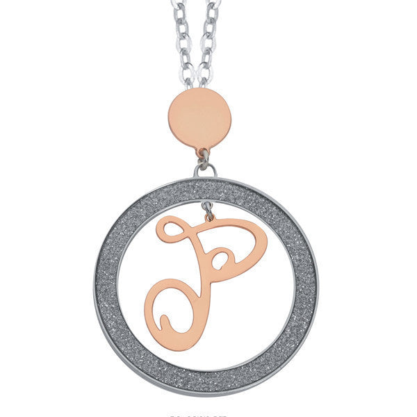 Necklace with letter P Small pendant