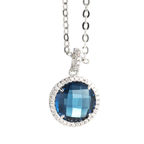 Related product : Necklace with crystal Montana and pendant zircons