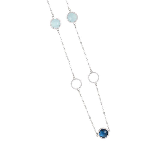 Related product : Necklace with crystals Montana, aquamilk and zircons