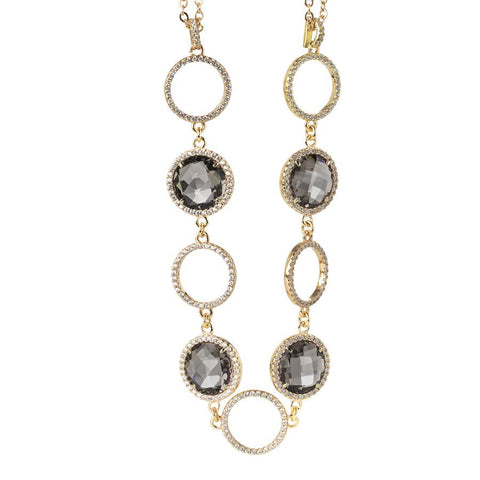 Related product : Necklace double wire with crystals smoky quartz and zircons