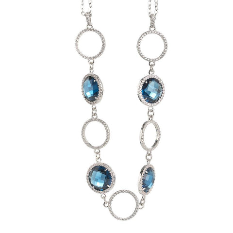 Related product : Necklace double wire with crystals Montana and zircons