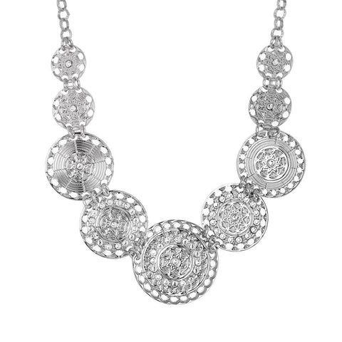 Related product : Short necklace with semi-rigid breastplate and Swarovski