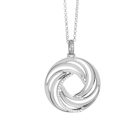 Related product : Necklace with a pendant from the decoration a vortex and zircons