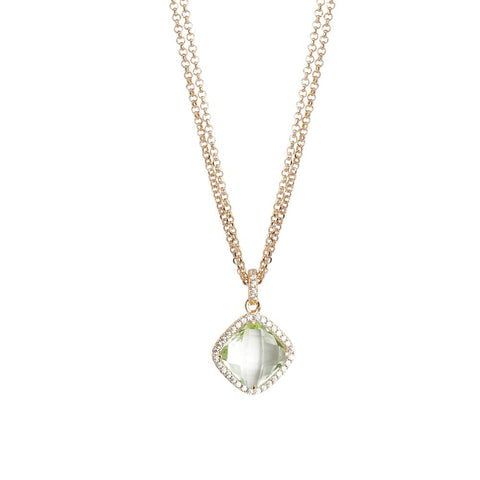 Related product : Necklace double wire with crystal chrysolite and zircons