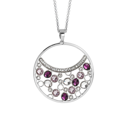 Related product : Double necklace wearing   pendant with Swarovski crystal and ametyst