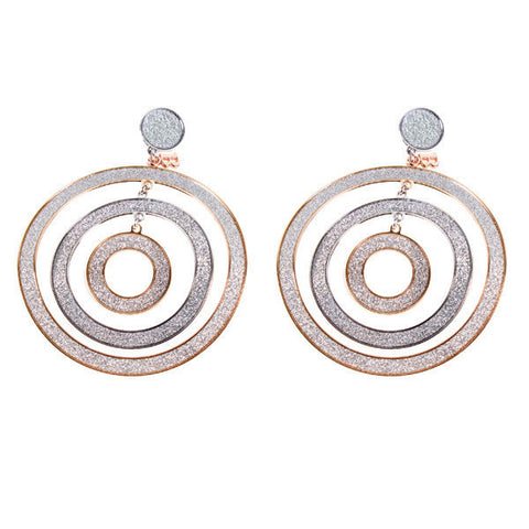Earrings Pendant with three concentric circles