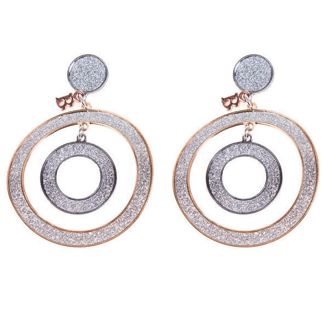 Earrings Pendant with two concentric circles
