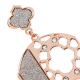 Plated Earrings Pink Gold pendant with Zellige