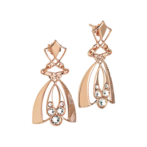 Earrings Pendant rosati with Swarovski crystals