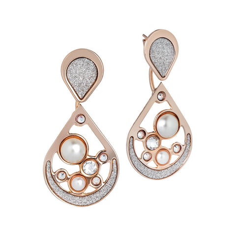 Earrings rosati interchangeable to drop with pearls cabochon