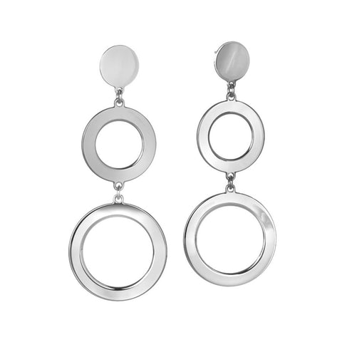 Earrings with circular pendants