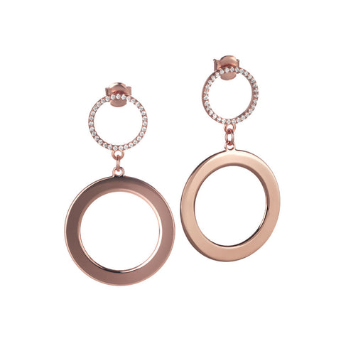 Earrings rosati circular pendants with zircons
