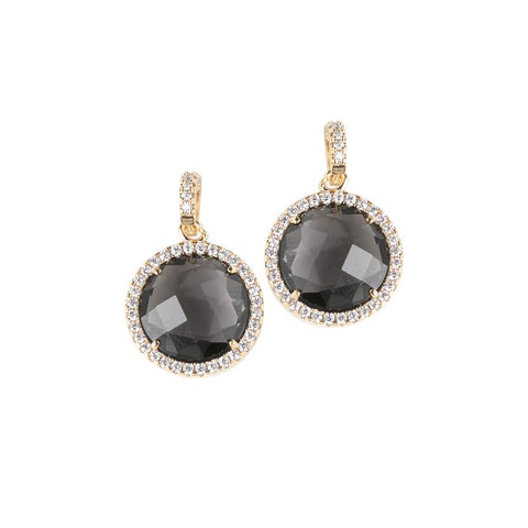 Related product : Pendant earrings with crystals smoky quartz and zircons