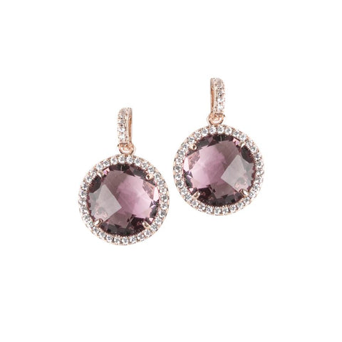 Related product : Pendant earrings with crystals amethyst and zircons