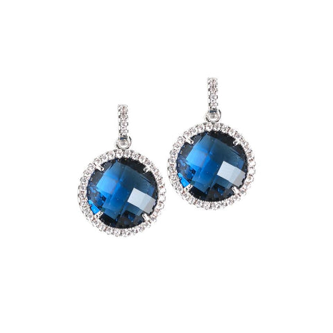 Related product : Pendant earrings with crystals Montana and zircons