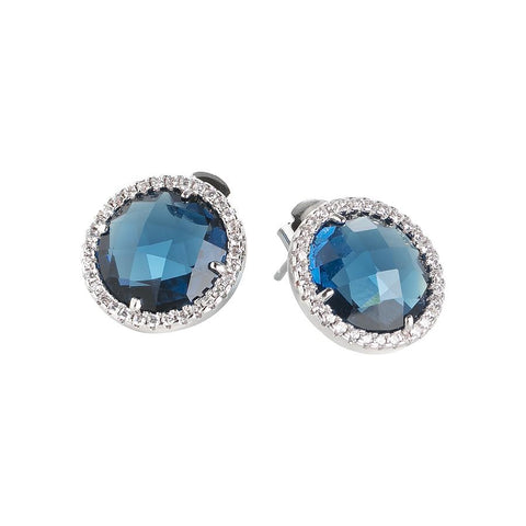 Related product : Earrings in the lobe with zircons and crystal Montana